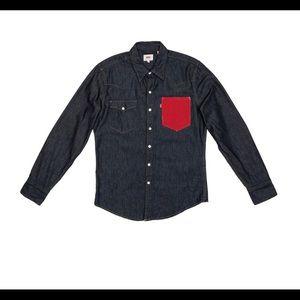 Levi's 501 X karla Denim Western Long Sleeve Shirt
